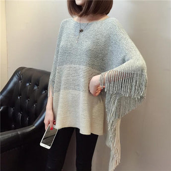 Autumn New Shawl Tassels Shirt September 2020 new arrival ONE