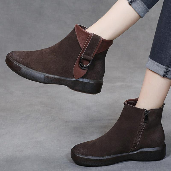 Autumn Retro Women's Boots Nov 2020-New Arrival 35 BROWN