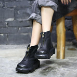 Autumn Winter Retro Women Ankle Boots Jan 2021-New Arrival 35 Black