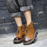 Autumn Winter Retro Women Ankle Boots Jan 2021-New Arrival 35 Brown