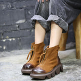 Autumn Winter Retro Women Ankle Boots Jan 2021-New Arrival
