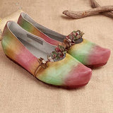 BABAKUD Almond Toe Flowers Flats Slip On Casual Shoes 2019 July New