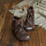 BABAKUD Autumn Retro Ethnic Leather Women's Ankle Boots 2019 September New