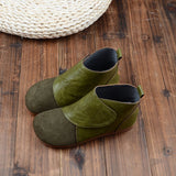 BABAKUD Autumn Retro Round Head Women's Casual Boots 2019 October New 35 Green