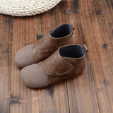 BABAKUD Autumn Retro Round Head Women's Casual Boots 2019 October New 35 Khaki