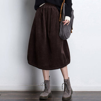 BABAKUD Autumn Winter Casual A Word Corduroy Skirt 2019 October New
