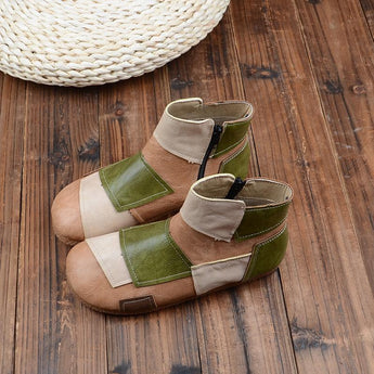 BABAKUD Autumn Winter Color Matching Handmade Comfortable Boots 2019 October New 35 Camel