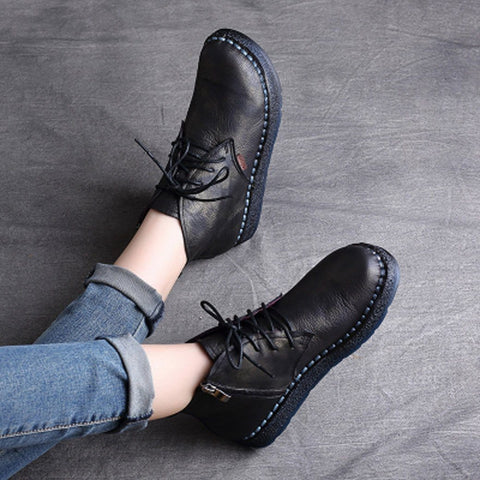BABAKUD Autumn Winter Retro Handmade Boots Women 35-42 2019 August New 35 Black