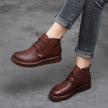 BABAKUD Autumn Winter Retro Handmade Boots Women 35-42 2019 August New 35 Brown