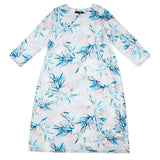 BABAKUD Bamboo Leaves Printed Loose Long Sleeve Dress 2019 August New