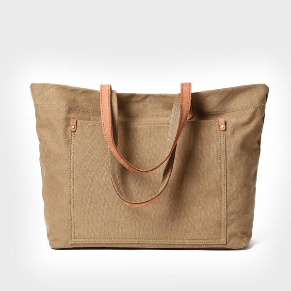BABAKUD Capacity Casual Women's Canvas Bag ACCESSORIES 37cm*12cm*31cm Khaki