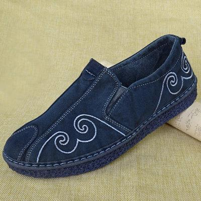 Babakud Casual Fashion Comfortable Flats Cloth Shoes 35-44 2019 July New 35 Deep Blue