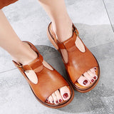 Babakud Casual Leather Handmade Platform Sandals 2019 July New