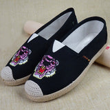 Babakud Embroidery Casual Cloth Paneled Flats Shoes 2019 July New 35 Black