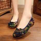 Babakud Ethnic Embroidery Soft Women Shoes 34-41 2019 Jun New 34 Blue