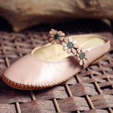 BABAKUD Flowers Handmade Comfy Closed Toe Flats Casual Shoes 34-41 2019 July New