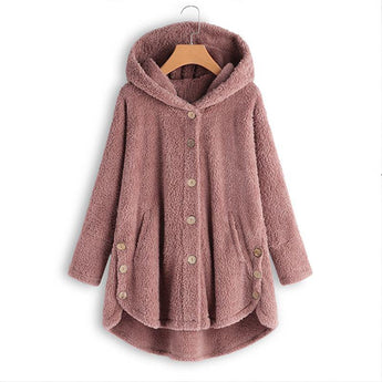 BABAKUD Fluffy Coats Autumn Winter Women Jackets Female Casual 2019 October New S Pink