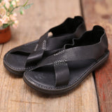 BABAKUD Handmade Flats Leather Shoes For Man & Women 39-44 2019 August New 39 Black