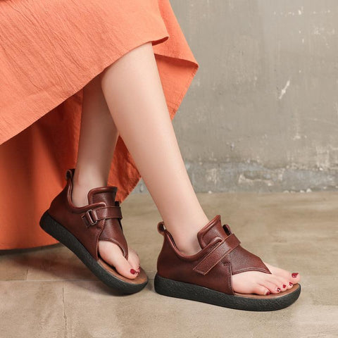 Babakud Handmade Leather Soft Bottom Vintage Sandals 2019 Jun New 35 Coffee