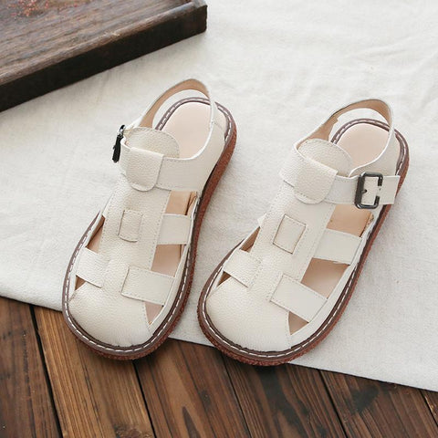 Babakud Hollow Breathable Summer Casual Sandals 2019 Jun New 35 Beige