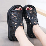 Babakud Hollow Out Sewing Casual Leather Wegde Sandals 2019 July New