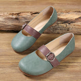 Babakud Leather Buckle Casual Flats Shoes 2019 July New