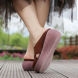 Babakud Leather Retro Casual Platform Slippers 2019 July New
