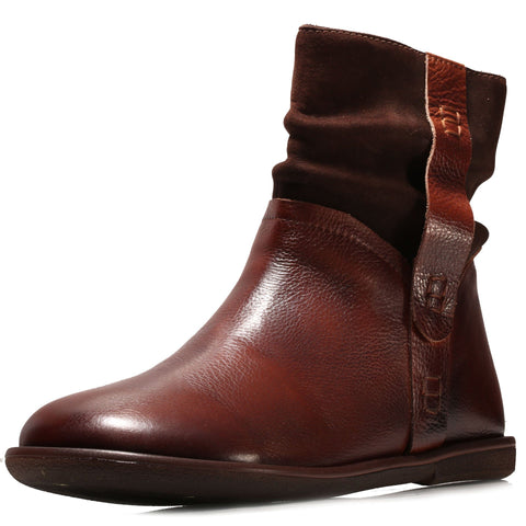 Babakud Leather Solid Handmade Retro Women Boots 2019 October New 35 Coffee