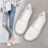 Babakud Leather Summer Flat Retro Casual Shoes 35-41 2019 Jun New 35 Beige