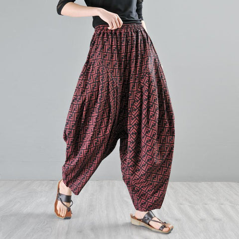 Babakud Loose Casual Hanging Radish Summer Harem Pants 2019 Jun New One Size Red