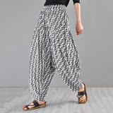 Babakud Loose Casual Hanging Radish Summer Harem Pants 2019 Jun New One Size White