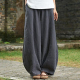 Babakud Loose Casual Linen Shift Pants 2019 Jun New One Size Gray