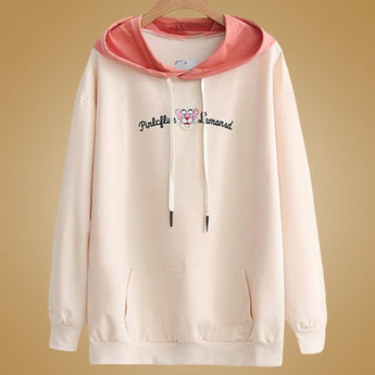 Babakud Loose Embroidery Casual Women Hoodie 2019 September New