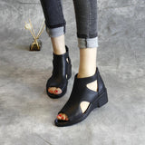 Babakud New Leather Wedge Summer Women's Sandals 2019 Jun New