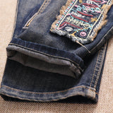 BABAKUD Patch Retro Loose Casual Straight Denim Pants Jan 2021-New Arrival