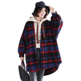 BABAKUD Plus Size Plaid Hooded Autumn Coat 2019 August New