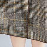 BABAKUD Plus Size Plaid Turn Down Collar Windbreaker Coat 2019 August New