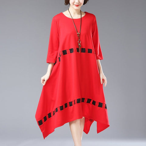 Babakud Printed Casual Loose Shift Summer Dress 2019 July New M Red