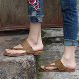Babakud Retro Leather Clip Toe Solid Casual Slippers 2019 Jun New