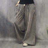 Babakud Rich Linen Casual Loose Wide Leg Pants 2019 July New One Size Black