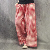 Babakud Rich Linen Casual Loose Wide Leg Pants 2019 July New One Size Red