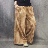 Babakud Rich Linen Casual Loose Wide Leg Pants 2019 July New One Size Yellow