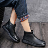 Babakud Simple Essential Solid Leather Women Casual Boots 34-41 2019 October New