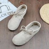 BABAKUD Spring Cotton Linen Retro Flat Casual Shoes 2019 October New 35 Beige