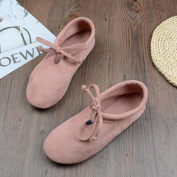 BABAKUD Spring Cotton Linen Retro Flat Casual Shoes 2019 October New 35 Pink