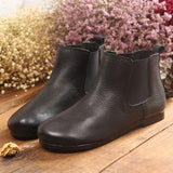 Babakud Spring Handmade Retro Women's Leather Boots 35-41 2019 July New 35 Black