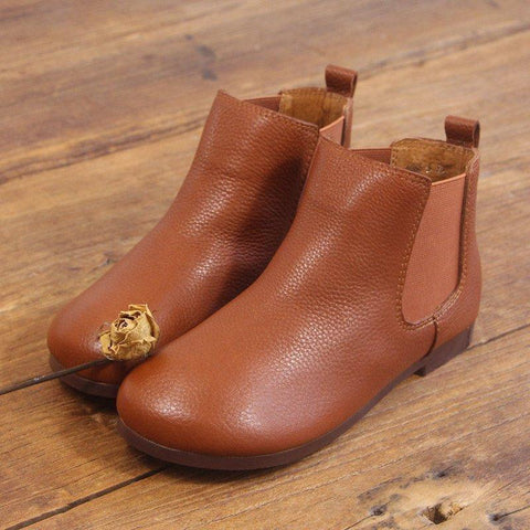 Babakud Spring Handmade Retro Women's Leather Boots 35-41 2019 July New 35 Light Brown