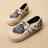 Babakud Spring Summer Vintage Ethnic Flat Linen Shoes 35-44 2019 Jun New 35 Blue A
