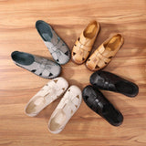 Babakud Summer Leather Flat Comfortable Hollow Out Shoes 2019 July New