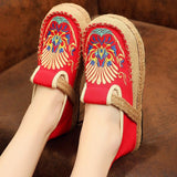 Babakud Summer Retro Straw Linen Embroidery Shoes 2019 Jun New 35 Red